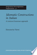 Idiomatic Constructions in Italian