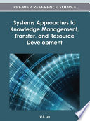 Systems Approaches to Knowledge Management  Transfer  and Resource Development