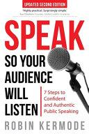 Book Speak So Your Audience Will Listen