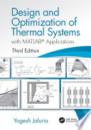 Design And Optimization Of Thermal Systems Third Edition