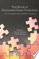 Handbook of Automated Essay Evaluation
