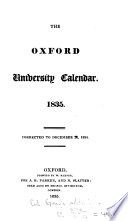 THE OXFORD UNIVERSITY CALENDAR