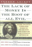 download ebook the lack of money is the root of all evil pdf epub