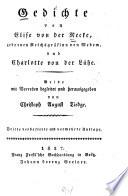 Gedichte von Elise von Recke ...