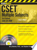 CliffsNotes CSET  Multiple Subjects with CD ROM  3rd Edition