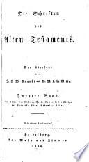 Die Schriften des Alten Testaments  Bd  Die B  cher der Richter  Ruth  Samuels  der K  nige  der Chronik  Esra  Nehemia  Esther