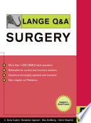 Lange Q A Surgery  Fifth Edition