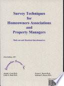 Survey Techniques for Homeowners Associations and Property Managers