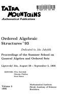 Ordered Algebraic Structures  93