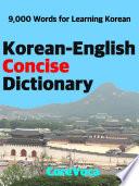 Korean English Concise Dictionary