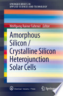 Amorphous Silicon   Crystalline Silicon Heterojunction Solar Cells