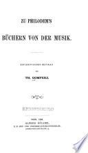 Zu Philodem's Büchern von der Musik