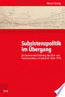 Subsistenzpolitik im Übergang
