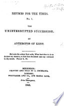 The Uninterrupted Succession  by Anthropos of Kent