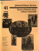 Revue D'histoire de la Culture Matérielle