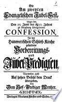 Die am zweyten evangelischen Jubel Fest  wegen der den 25  Junii des 1530
