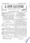 Il divin salvatore periodico settimanale romano