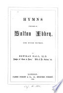 Hymns composed at Bolton abbey  and other rhymes