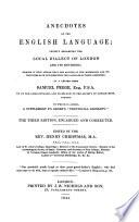 Anecdotes of the English Language