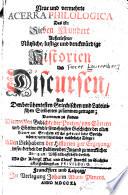 Neue und vermehrte acerra philologica