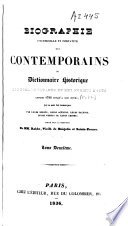 Biographie universelle et portative des Contemporains