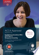 Fia Foundations In Management Accounting Fma Acca F2