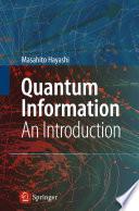 Quantum Information Book PDF