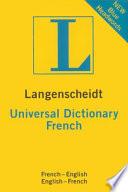 Langenscheidt Universal French Dictionary