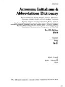Acronyms  Initialisms   Abbreviations Dictionary