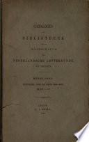 Catalogus Der Bibliotheek