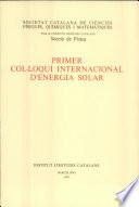 Primer Col  loqui Internacional d Energia Solar