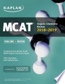 MCAT Organic Chemistry Review 2018 2019