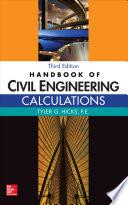 Handbook of Civil Engineering Calculations  Third Edition