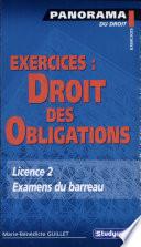 illustration Exercices, droit des obligations, sources, contrats, responsabilités