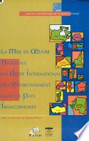 illustration La mise en oeuvre nationale du droit international de l'environnement dans les pays francophones, actes des troisièmes journées scientifiques du Réseau droit de l'environnement de l'Agence universitaire de la francophonie, Yaoundé, Cameroun, 14-15 juin 2001