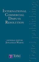 International Commercial Dispute Resolution