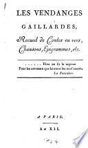Les vendanges gaillardes  recueil de contes en vers  chansons  epigrammes  etc   By de Hulst  re and others