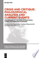 Crisis And Critique Philosophical Analysis And Current Events