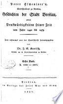 Peter Eschenloer's Geschichten der Stadt Breslau