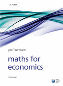 Maths For Economics : the mathematical techniques used in economics,...