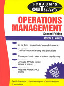 Schaum s Outline of Operations Management