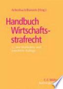 Handbuch Wirtschaftsstrafrecht Hwst