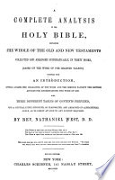 A Complete Analysis Of The Holy Bible : ...