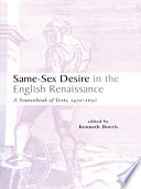 Same sex Desire in the English Renaissance