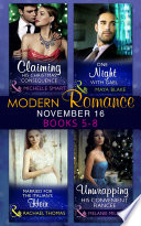 Modern Romance November 2016 Books 5 8  Claiming His Christmas Consequence   One Night with Gael   Married for the Italian s Heir   Unwrapping His Convenient Fianc  e  Mills   Boon e Book Collections