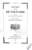 Oeuvres complètes de Voltaire: ptie. Oeuvres poétiques