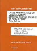 Cases and materials on legislation