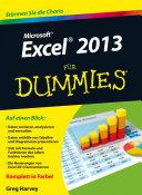 Microsoft Excel 2013 für Dummies