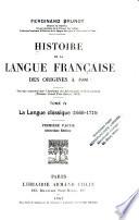 Histoire de la langue fran  aise