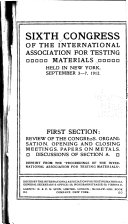 Proceedings of the International Association for Testing Materials